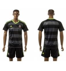 Wales Blank Black Away Soccer Country Jersey