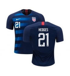 Women's USA #21 Hedges Away Soccer Country Jersey