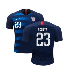 Women's USA #23 Acosta Away Soccer Country Jersey