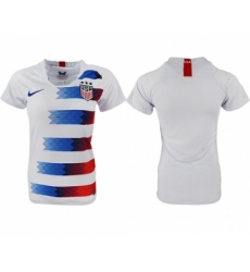 Women's USA Blank Home Soccer Country Jersey
