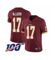 Men's Washington Redskins #17 Terry McLaurin Burgundy Red Team Color Vapor Untouchable Limited Player 100th Season Football Jersey