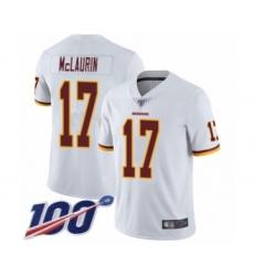 Men's Washington Redskins #17 Terry McLaurin White Vapor Untouchable Limited Player 100th Season Football Jersey