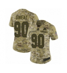 Women's Washington Redskins #90 Montez Sweat Limited Camo 2018 Salute to Service Football Jersey