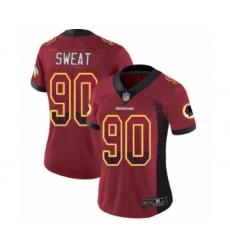 Women's Washington Redskins #90 Montez Sweat Limited Red Rush Drift Fashion Football Jersey