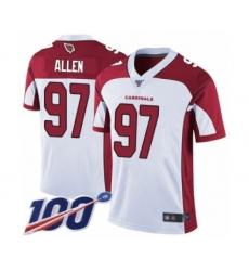 Men's Arizona Cardinals #97 Zach Allen White Vapor Untouchable Limited Player 100th Season Football Jersey