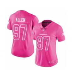 Women's Arizona Cardinals #97 Zach Allen Limited Pink Rush Fashion Football Jersey