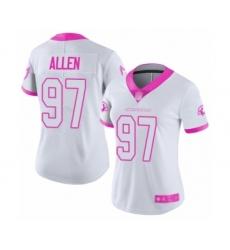 Women's Arizona Cardinals #97 Zach Allen Limited White Pink Rush Fashion Football Jersey