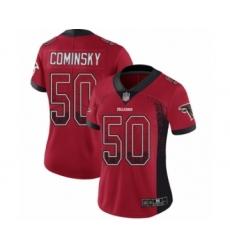 Women's Atlanta Falcons #50 John Cominsky Limited Red Rush Drift Fashion Football Jersey