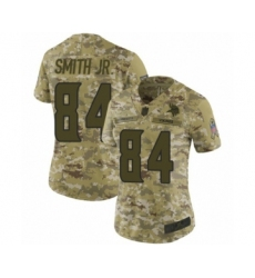 Women's Minnesota Vikings #84 Irv Smith Jr. Limited Camo 2018 Salute to Service Football Jersey