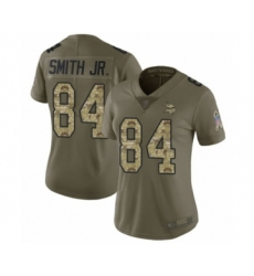 Women's Minnesota Vikings #84 Irv Smith Jr. Limited Olive Camo 2017 Salute to Service Football Jersey