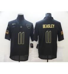 Men's Buffalo Bills #11 Cole Beasley Black Nike 2020 Salute To Service Limited Jersey