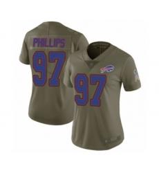 Women's Buffalo Bills #97 Jordan Phillips Limited Olive 2017 Salute to Service Football Jersey