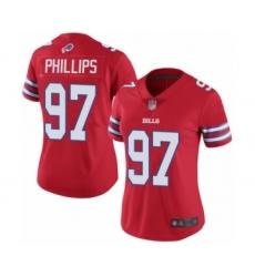 Women's Buffalo Bills #97 Jordan Phillips Limited Red Rush Vapor Untouchable Football Jersey