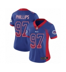 Women's Buffalo Bills #97 Jordan Phillips Limited Royal Blue Rush Drift Fashion Football Jersey