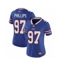Women's Buffalo Bills #97 Jordan Phillips Royal Blue Team Color Vapor Untouchable Elite Player Football Jersey