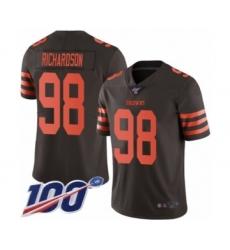 Men's Cleveland Browns #98 Sheldon Richardson Limited Brown Rush Vapor Untouchable 100th Season Football Jersey