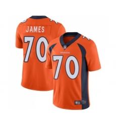 Men's Denver Broncos #70 Ja Wuan James Orange Team Color Vapor Untouchable Limited Player Football Jersey