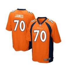 Men's Denver Broncos #70 Ja'Wuan James Game Orange Team Color Football Jersey