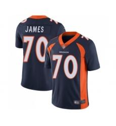Men's Denver Broncos #70 Ja'Wuan James Navy Blue Alternate Vapor Untouchable Limited Player Football Jersey