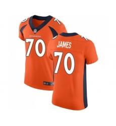 Men's Denver Broncos #70 Ja'Wuan James Orange Team Color Vapor Untouchable Elite Player Football Jersey