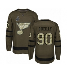 Men's St. Louis Blues #90 Ryan O'Reilly Authentic Blue Drift Fashion 2019 Stanley Cup Final Bound Hockey Jersey