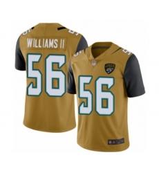 Men's Jacksonville Jaguars #56 Quincy Williams II Limited Gold Rush Vapor Untouchable Football Jersey