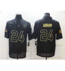 Men's Oakland Raiders #24 Johnathan Abram Black Nike 2020 Salute To Service Limited Jersey