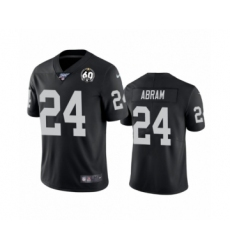 Women's Oakland Raiders #24 Johnathan Abram Black 60th Anniversary Vapor Untouchable Limited Player 100th Season Football Jersey