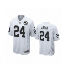 Women's Oakland Raiders #24 Johnathan Abram Game 60th Anniversary White Football Jersey