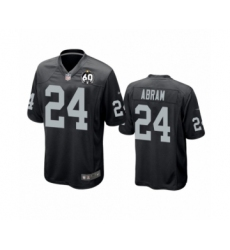 Women's Oakland Raiders #24 Johnathan Abram Game Black 60th Anniversary Team Color Football Jersey