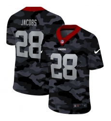 Men's Oakland Raiders #28 Josh Jacobs Camo 2020 Nike Limited Jersey