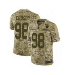 Men's Oakland Raiders #98 Maxx Crosby Limited Camo 2018 Salute to Service Football Jersey