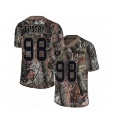 Men's Oakland Raiders #98 Maxx Crosby Limited Camo Rush Realtree Football Jersey