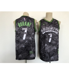 Men's Brooklyn Nets #7 Kevin Durant Black Authentic Jersey