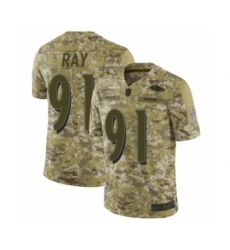 Men's Baltimore Ravens #91 Shane Ray Limited Camo 2018 Salute to Service Football Jersey