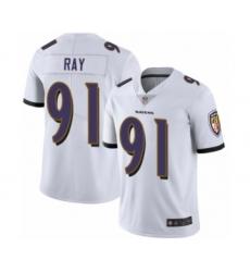 Men's Baltimore Ravens #91 Shane Ray White Vapor Untouchable Limited Player Football Jersey