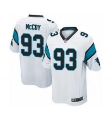 Men's Carolina Panthers #93 Gerald McCoy Game White Football Jersey