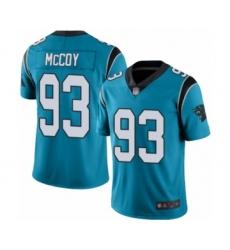 Men's Carolina Panthers #93 Gerald McCoy Limited Blue Rush Vapor Untouchable Football Jersey