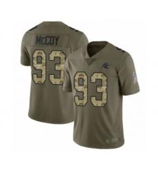 Men's Carolina Panthers #93 Gerald McCoy Limited Olive Camo 2017 Salute to Service Football Jersey