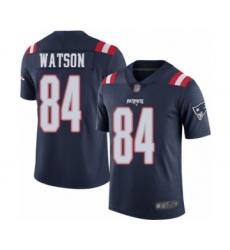 Men's New England Patriots #84 Benjamin Watson Limited Navy Blue Rush Vapor Untouchable Football Jersey