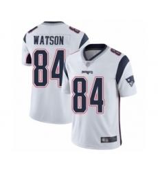Men's New England Patriots #84 Benjamin Watson White Vapor Untouchable Limited Player Football Jersey
