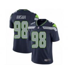 Men's Seattle Seahawks #98 Ezekiel Ansah Navy Blue Team Color Vapor Untouchable Limited Player Football Jersey
