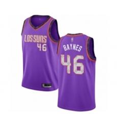 Men's Phoenix Suns #46 Aron Baynes Authentic Purple Basketball Jersey - 2018-19 City Edition