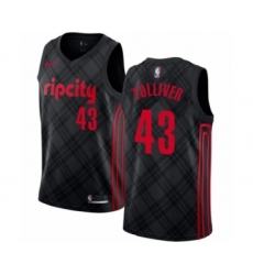 Men's Portland Trail Blazers #43 Anthony Tolliver Swingman Black Basketball Jersey - City Edition