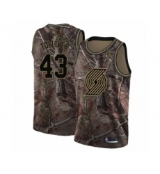 Men's Portland Trail Blazers #43 Anthony Tolliver Swingman Camo Realtree Collection Basketball Jersey
