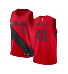 Men's Portland Trail Blazers #43 Anthony Tolliver Swingman Red Basketball Jersey Statement Edition