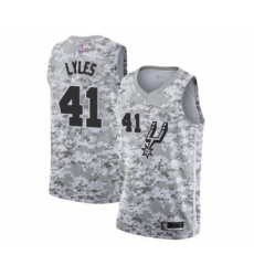 Men's San Antonio Spurs #41 Trey Lyles White Swingman Jersey - Earned Edition