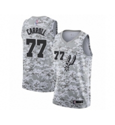 Men's San Antonio Spurs #77 DeMarre Carroll White Swingman Jersey - Earned Edition