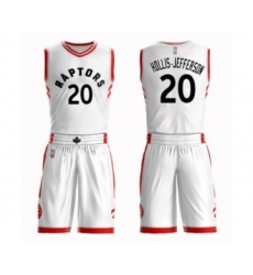 Men's Toronto Raptors #20 Rondae Hollis-Jefferson Authentic White Basketball Suit Jersey - Association Edition