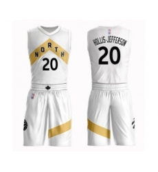 Women's Toronto Raptors #20 Rondae Hollis-Jefferson Swingman White Basketball Suit Jersey - City Edition